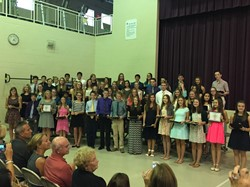 North Royalton Middle School Eighth Graders Accepted into NRMS Honor Society