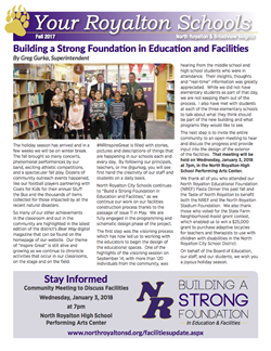 Cover of the Your Royalton Schools Printed Newsletter