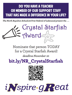 Crystal Starfish Nomination flyer