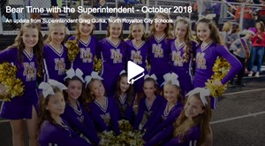 Bear Time with the Superintendent video for October 2018