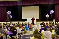 Keith Hawkins, leadership conference with middle school students