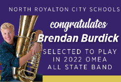 North Royalton High School Senior Selected to Perform in 2022 All State Band