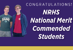 Two NRHS Students Named Nat'l Merit Commended Students