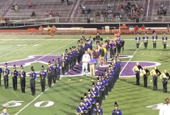 District Recognizes Military and Donors at Game