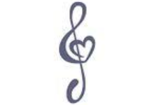 treble clef with a heart