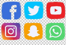 Photo of social media icons