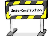 Yellow and Black construction sign