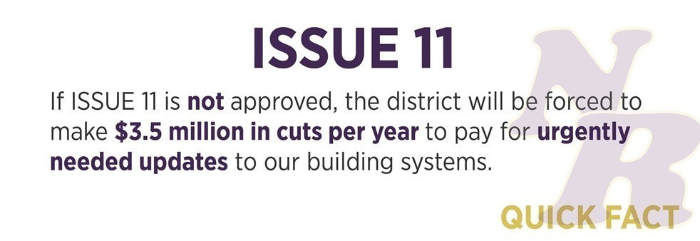 If Issue 11 is not approved, the district will be force to make $3.5 million in cuts