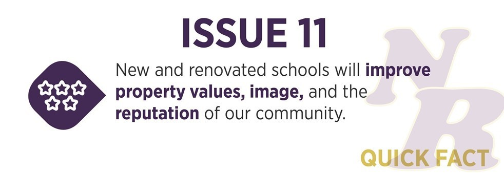 New and renovated schools will improve property values, image and reputation.