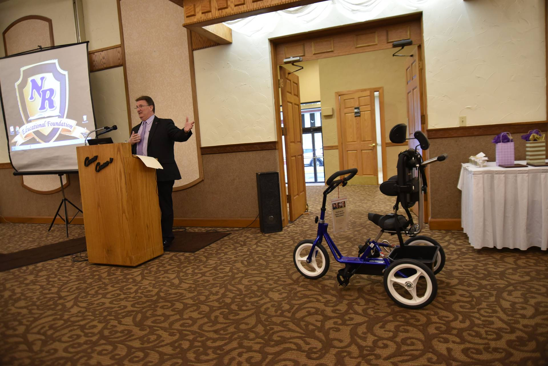 Adaptive bicycle purchased by grant money from State Farm