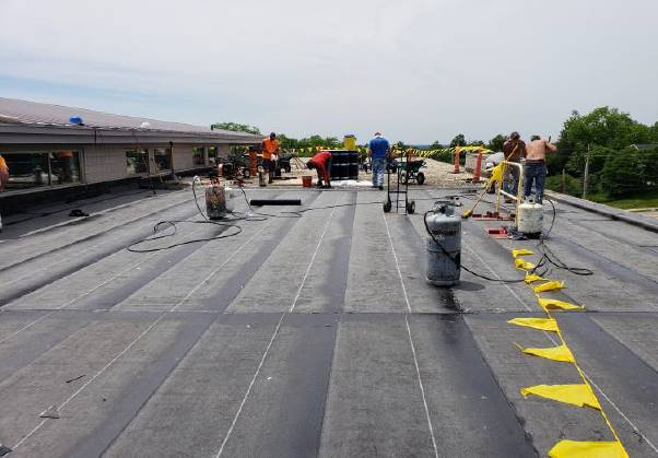 NRMS Roof: Overview of roof removal and vapor barrier on roof section A - June 2018
