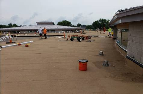 Section G: Overview of installed granulated cap sheet membrane. 8-22-18