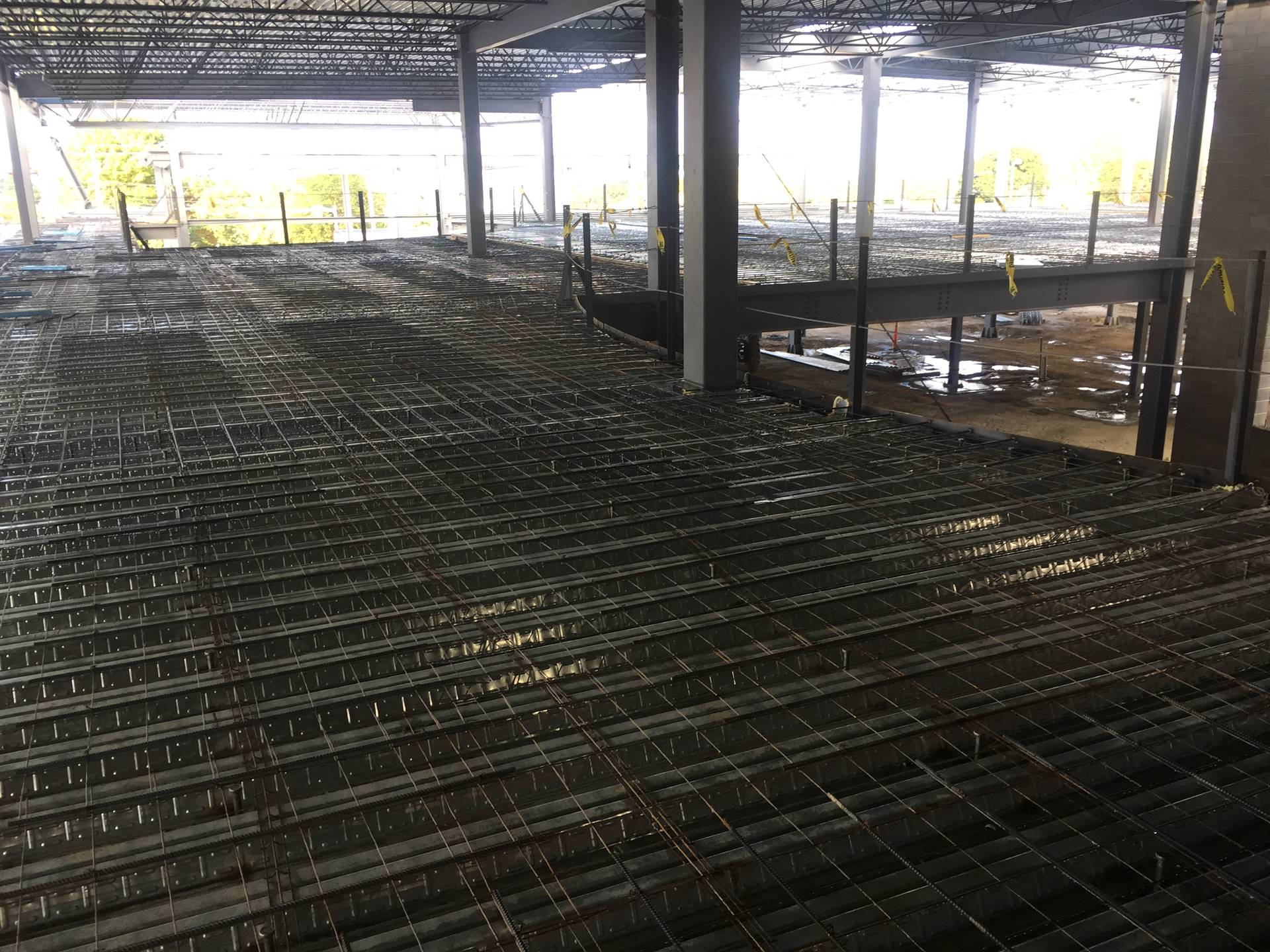 Getting ready for cement pour at the high school 10-12-19