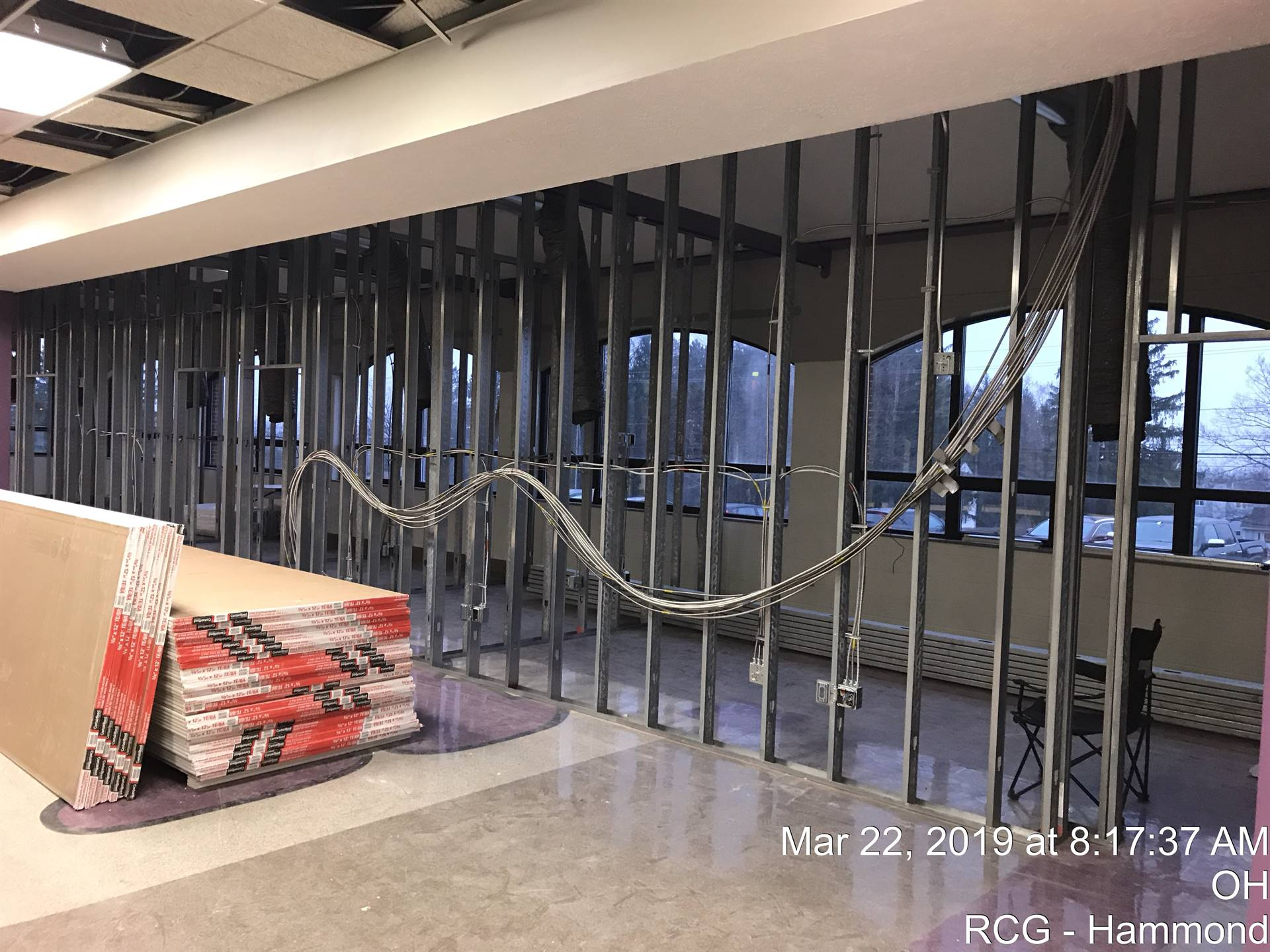 NRHS - Community Room transformation to temporary offices - March 22, 2019