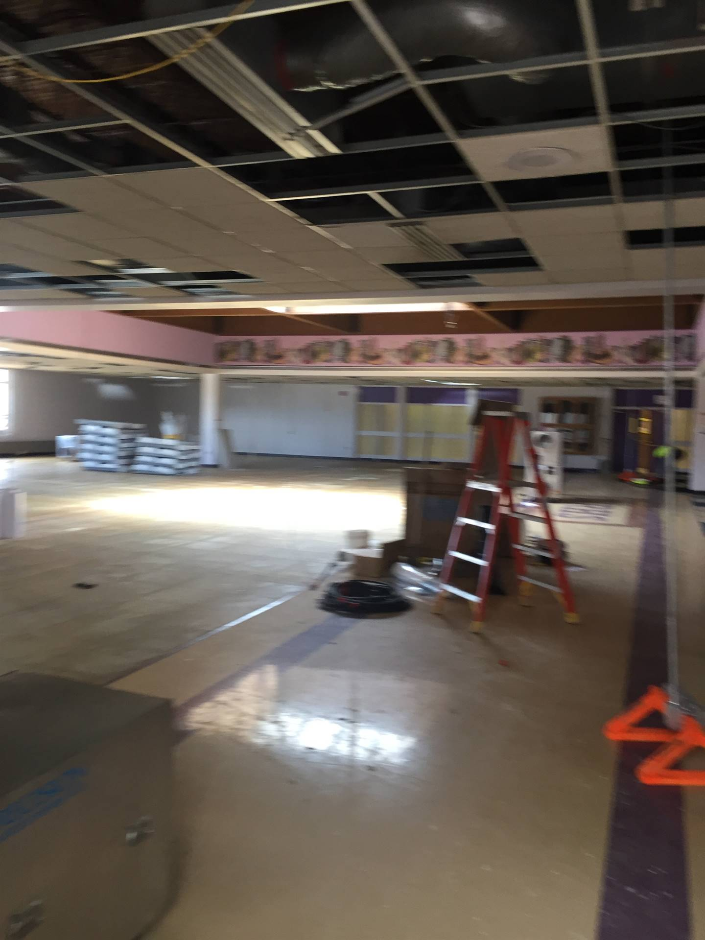 North Royalton High School Media Center being converted to new cafe 6-12-19