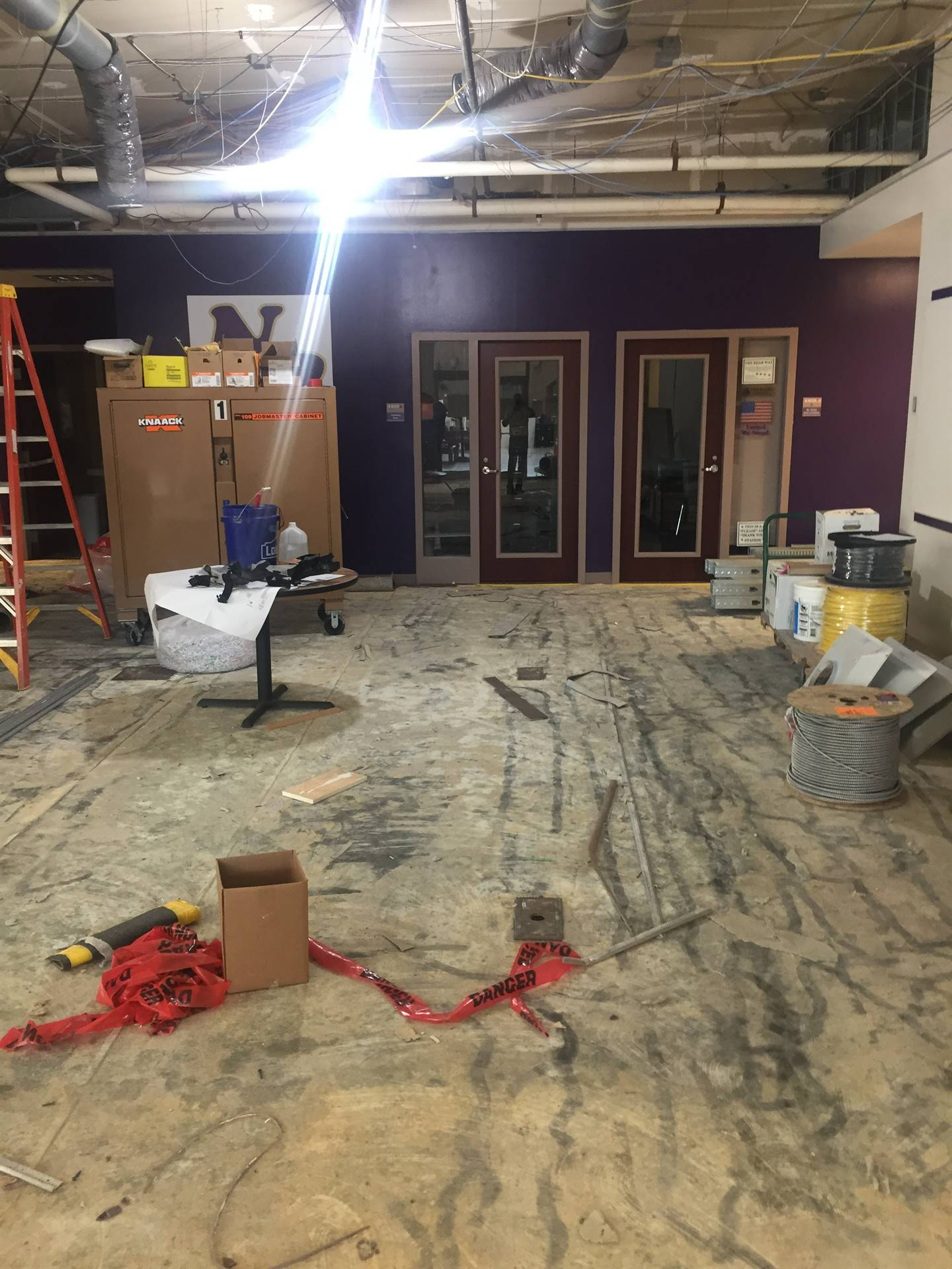 Middle School entrance work continues 6-18-19