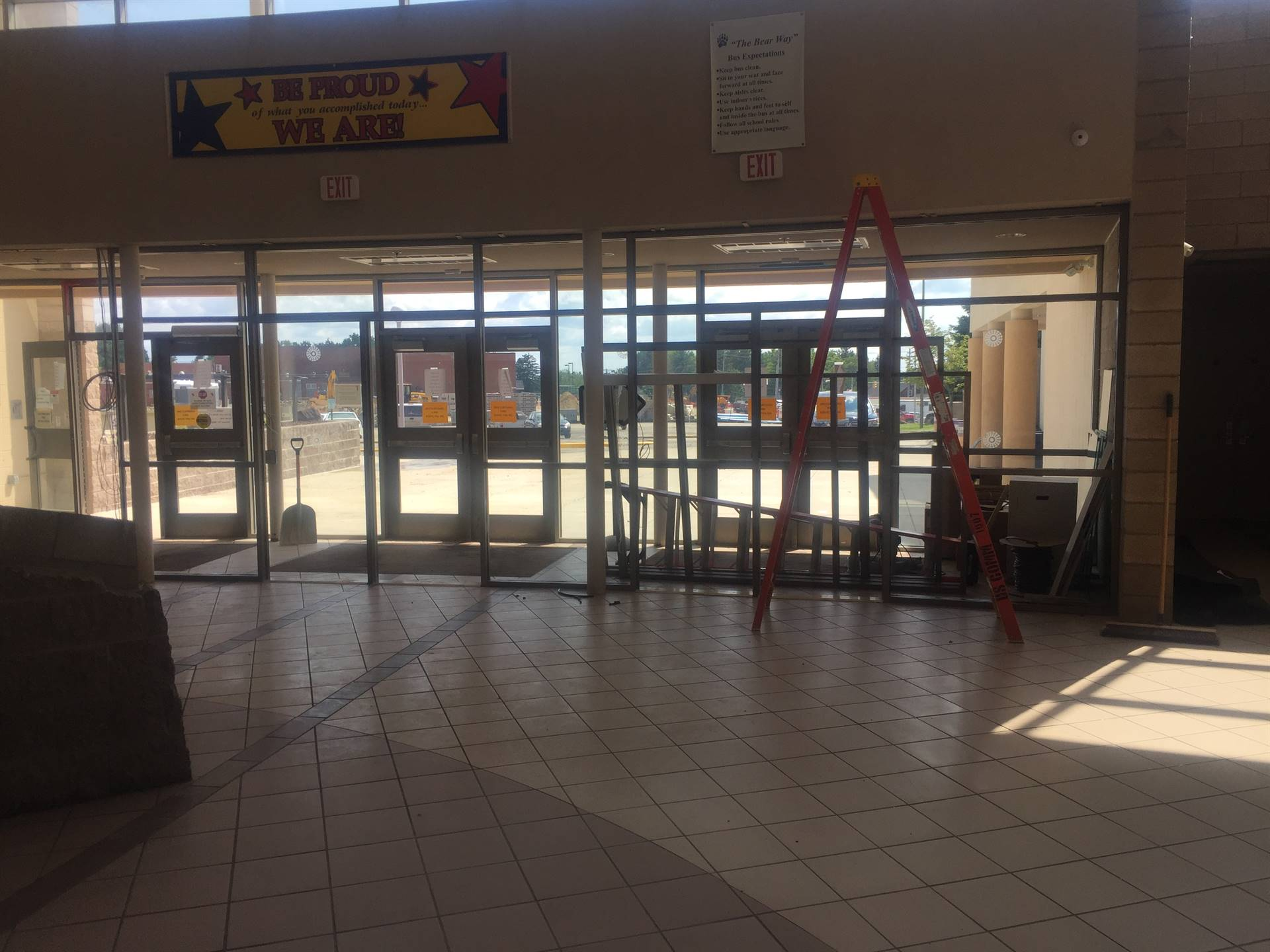 construction of new secure entrance at NRMS