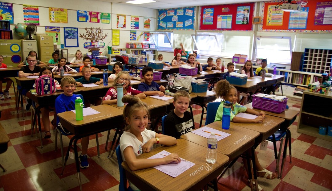 Albion students on first day of school