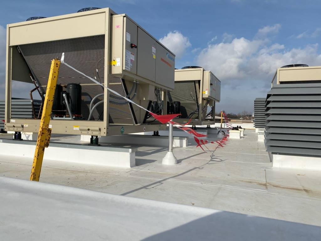 Some of the new roof top HVAC have arrived 12-28-19
