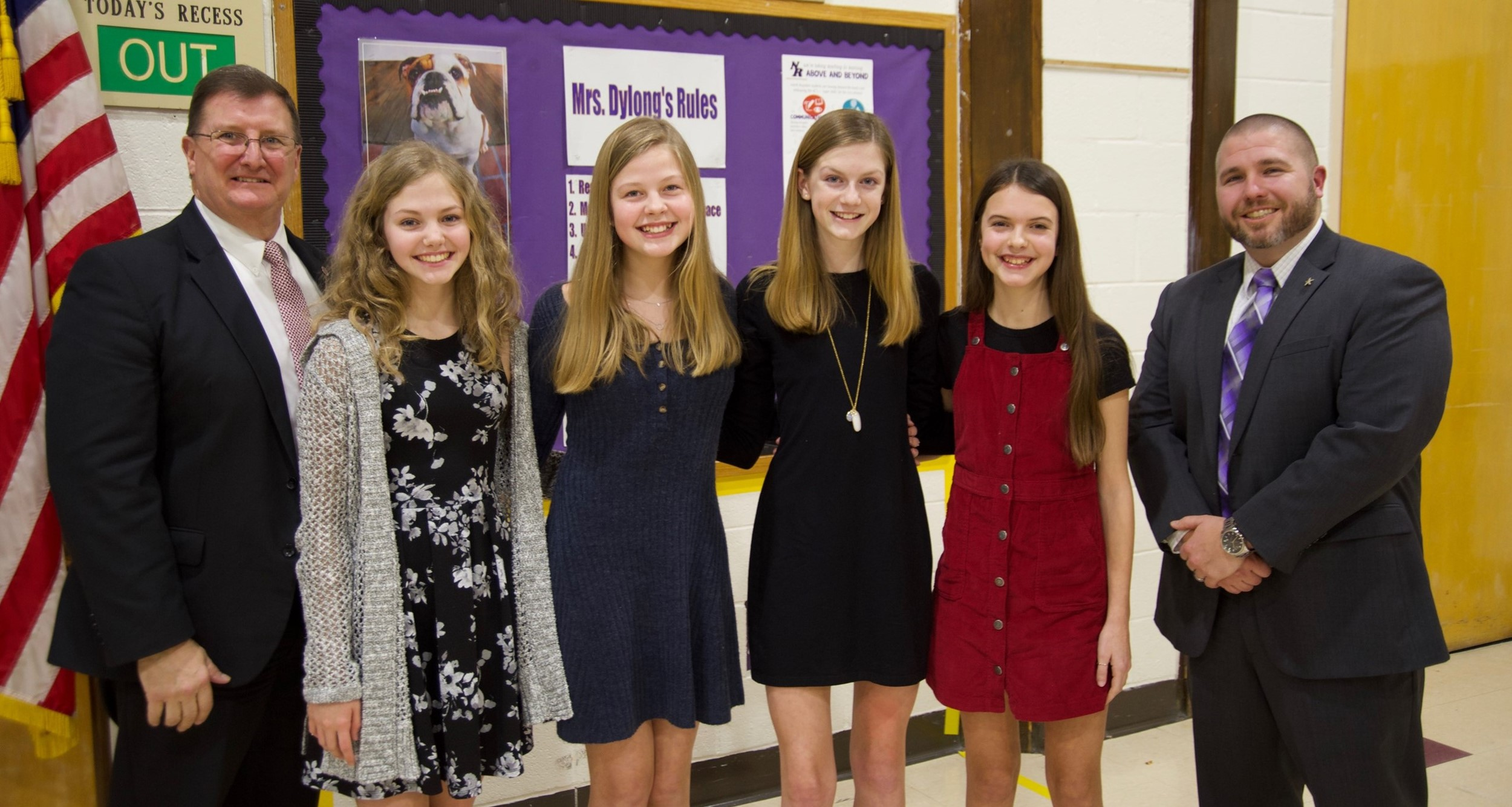 North Royalton Middle School students recognized at February board meeting