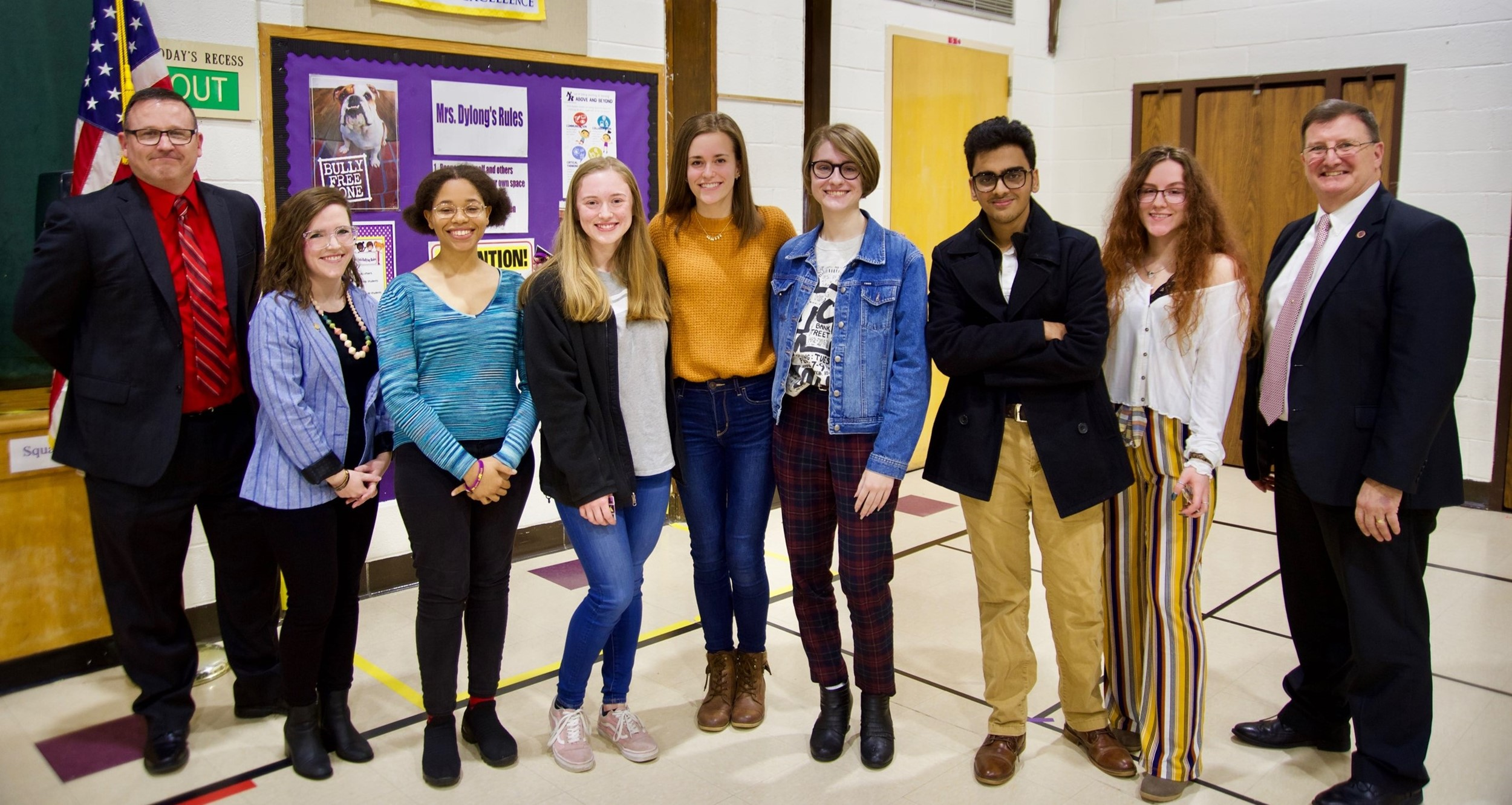 North Royalton High School students recognized at February board meeting