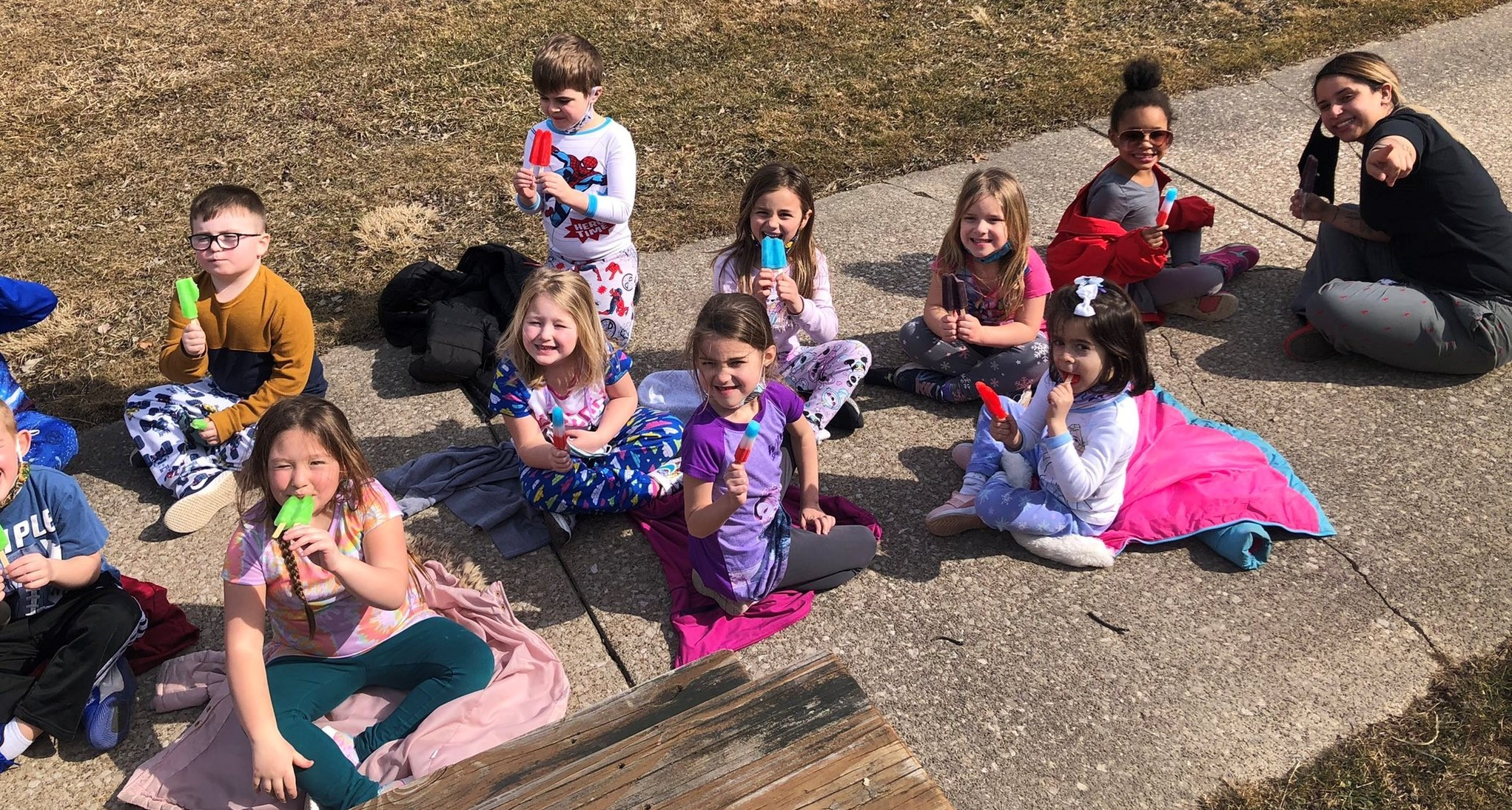 Poetry, puzzles, pajamas, and popsicles  make for the most PERFECT day