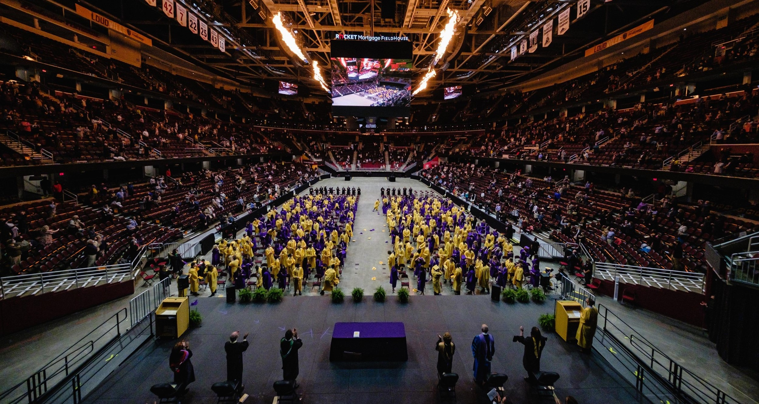 class of 2021 graduates at Rocket Mortgage Fieldhouse