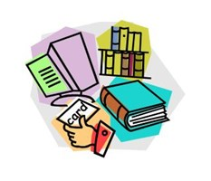 clip art of library books